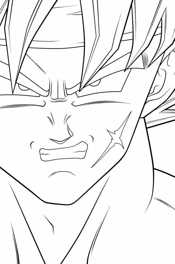 Desenhos do Goku carão