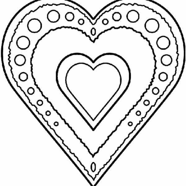 Desenhos de coração para colorir lindissimo