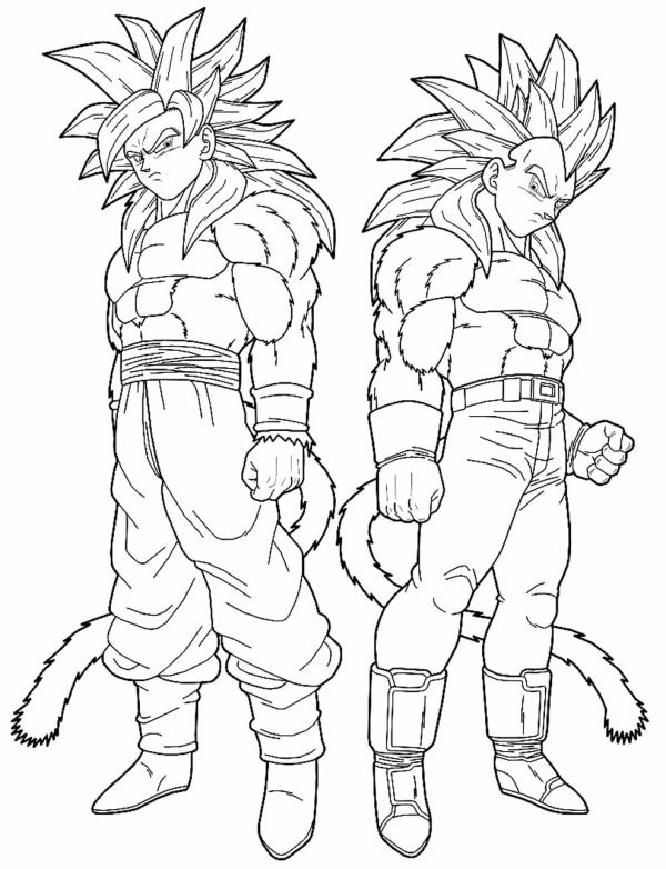 Desenhos do Goku gêmeos