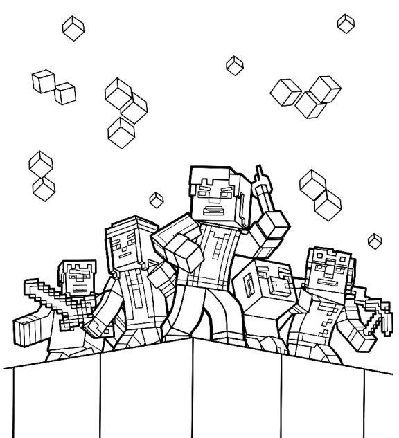 desenhos  Minecraft equipe