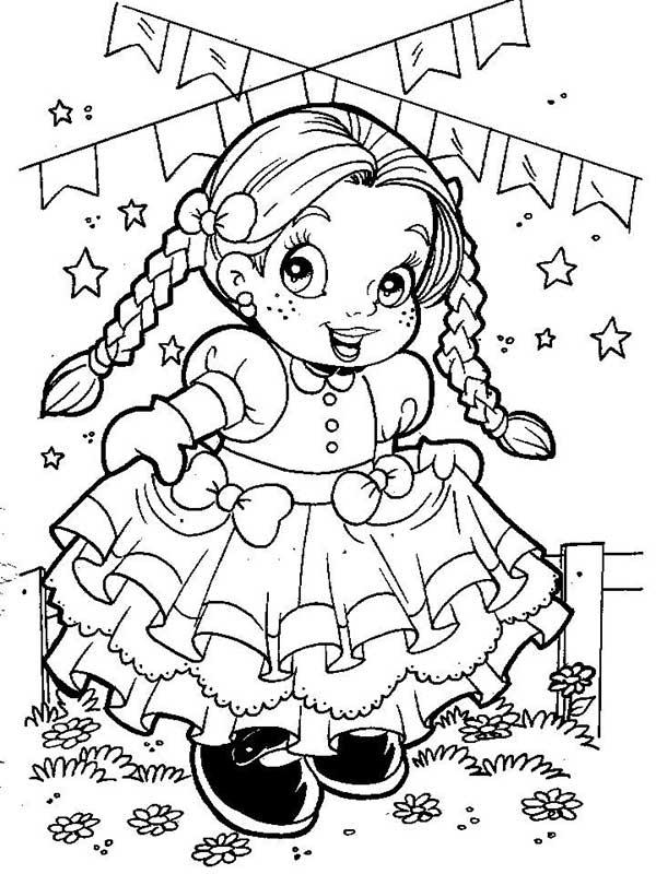 Desenhos de festa junina para colorir básico