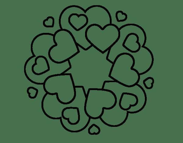Desenhos de coração para colorir apresentável