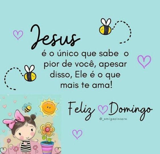 Feliz Domingo com Jesus