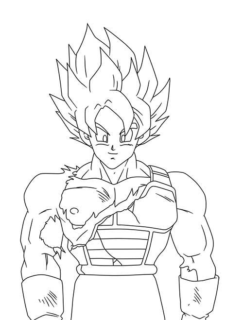 Desenhos do Goku poderosa