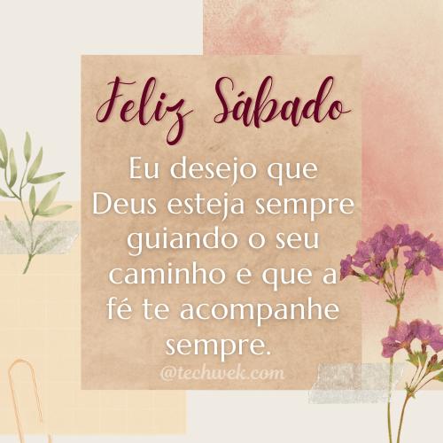 Mensagem de feliz sábado com Deus