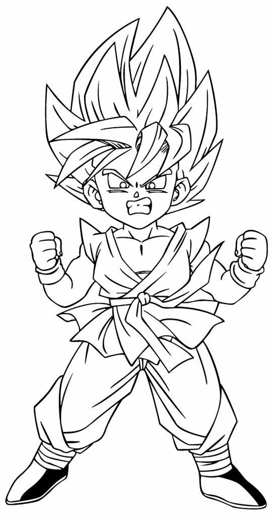 Desenhos do Goku na moda