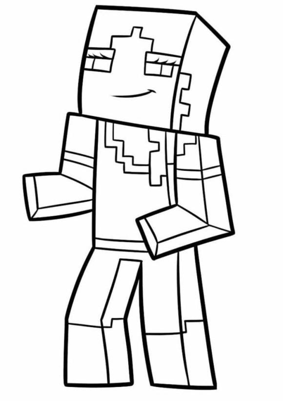 desenhos  Minecraft menina