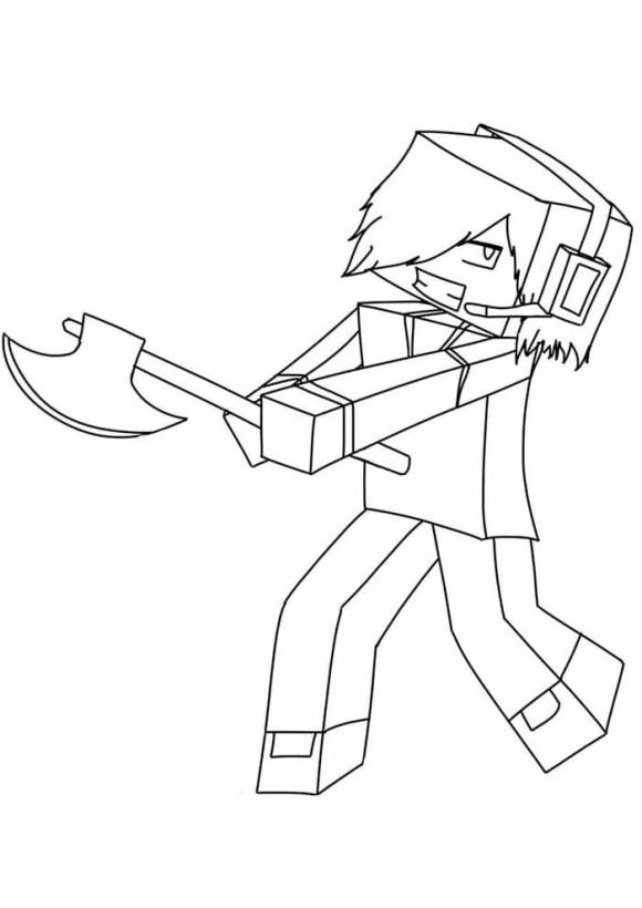 desenhos  Minecraft valente