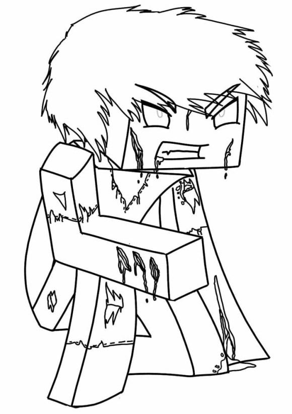 desenhos  Minecraft lutador