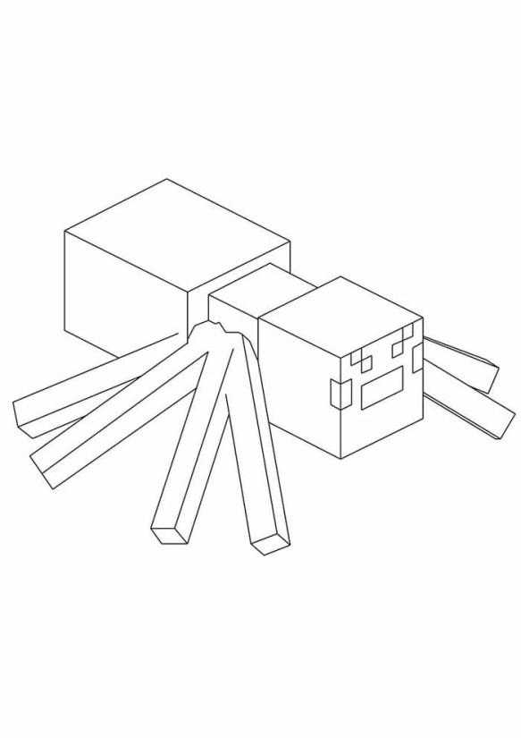 desenhos  Minecraft arranha