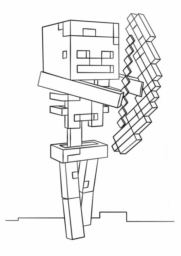 desenhos  Minecraft arqueiro