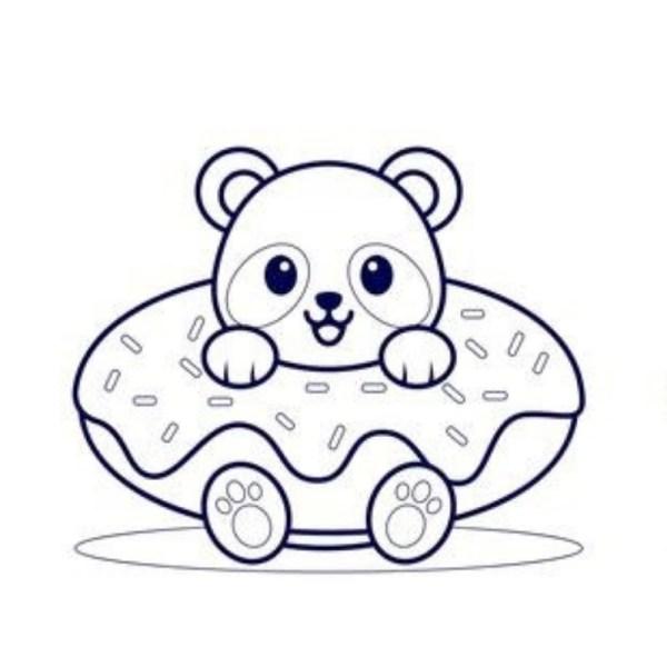 kawaiii desenho panda