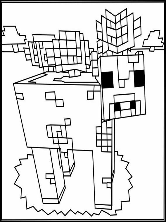 desenhos  Minecraft boi