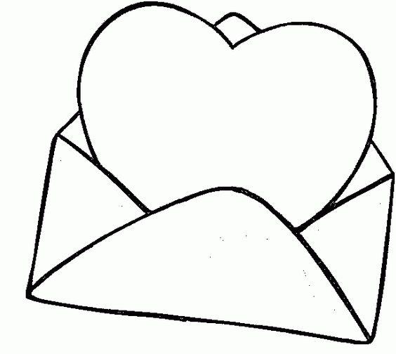 Desenhos de coração para colorir básico