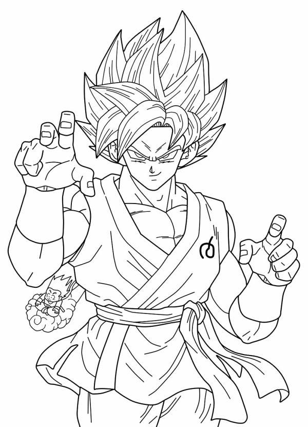 Desenhos do Goku voando
