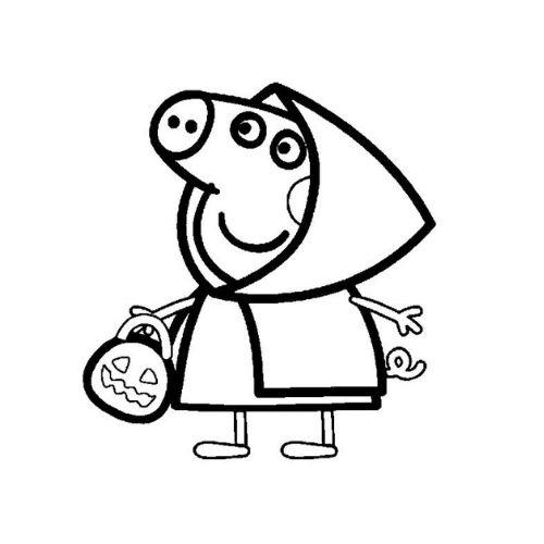 peppa pig para colorir festa fantasia