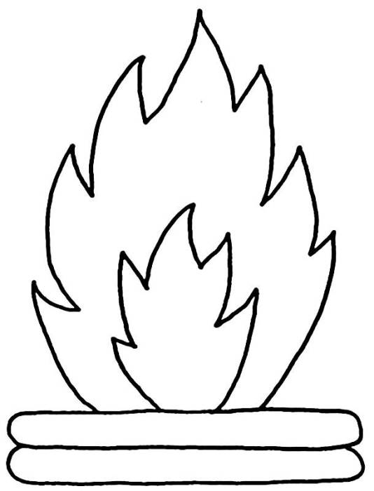 Desenhos de festa junina para colorir fogueira