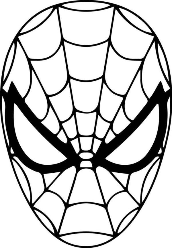 desenhos do rosto do homem aranha