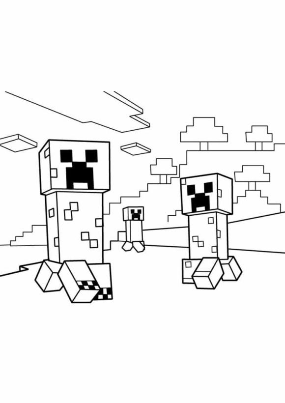 desenhos  Minecraft vigiando