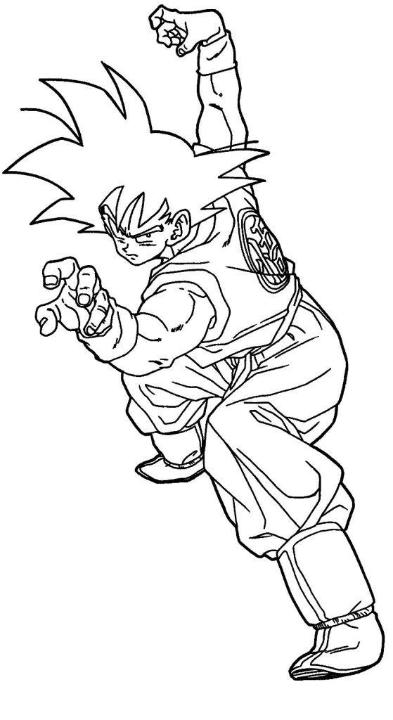 Desenhos do Goku na pose