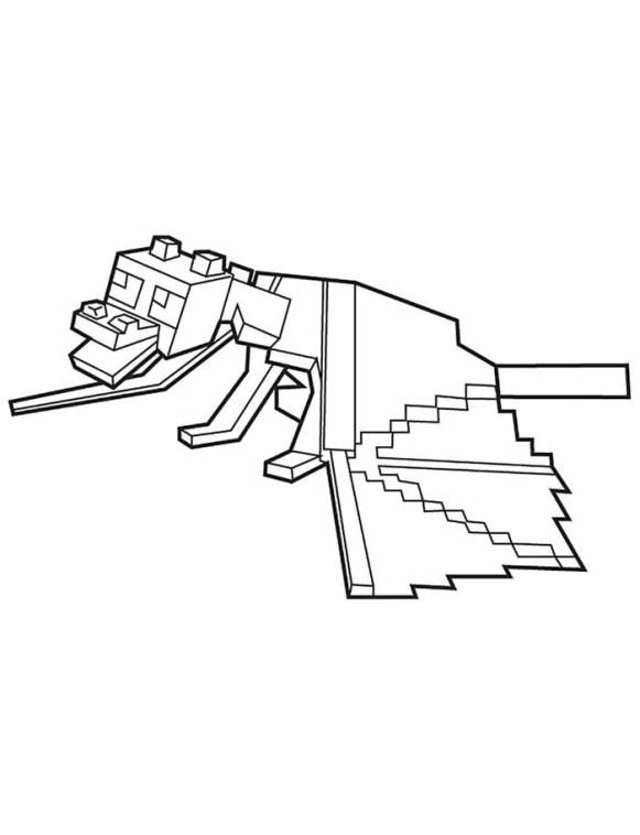 desenhos  Minecraft dragão