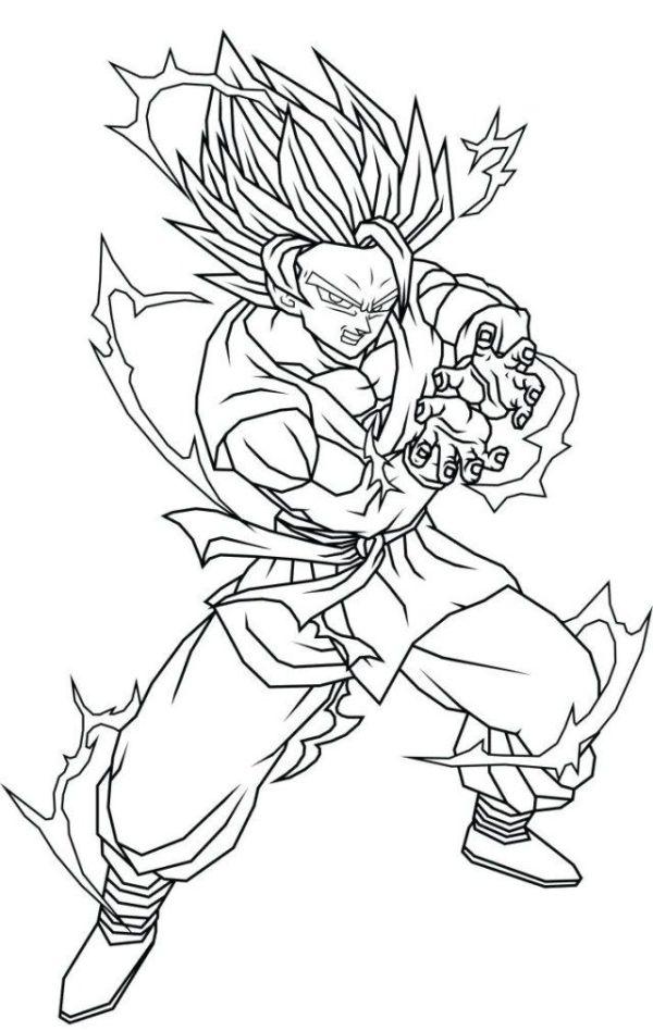 Desenhos do Goku o poder