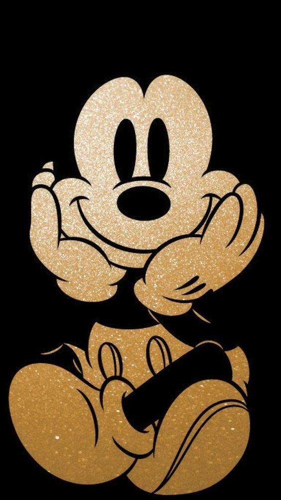 Plano de fundo escuro do Mickey