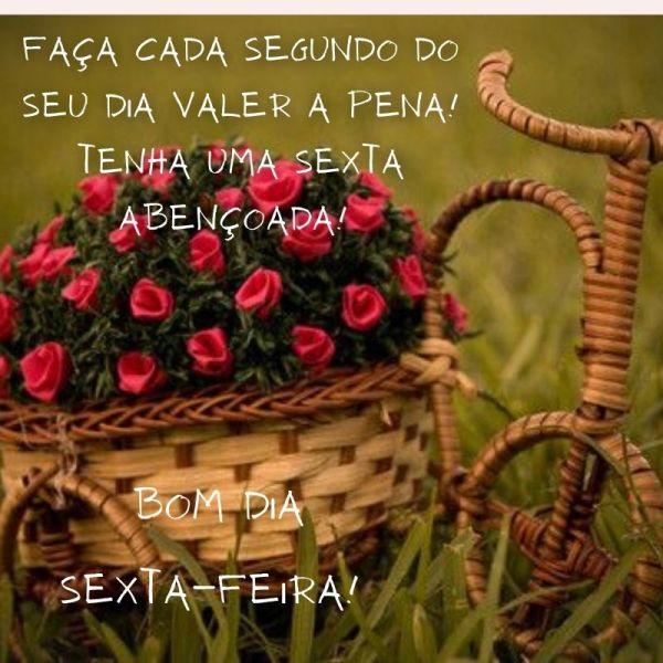 cesta de flores linda de um ótimo bom dia sexta feira