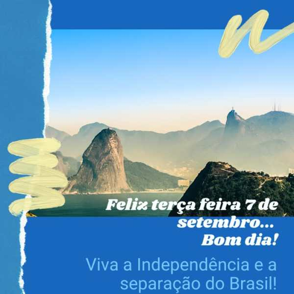 Viva a independência e liberdade do Brasil.