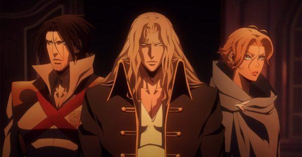 Os três personagens de Castlevania