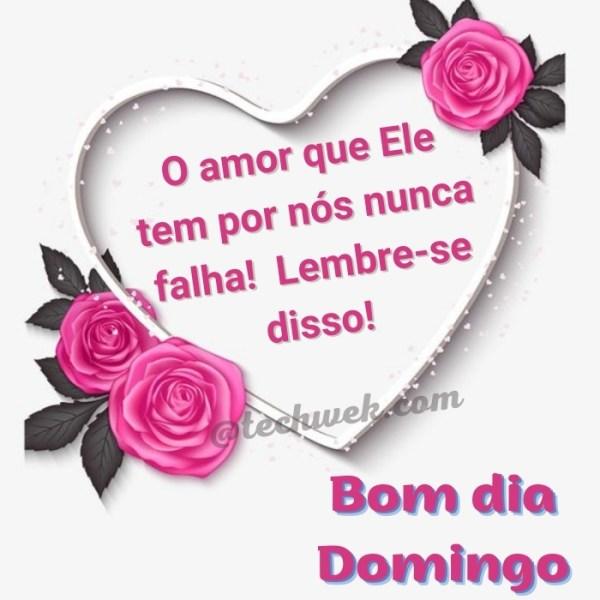 Bom dia domingo com Deus e lindos corações