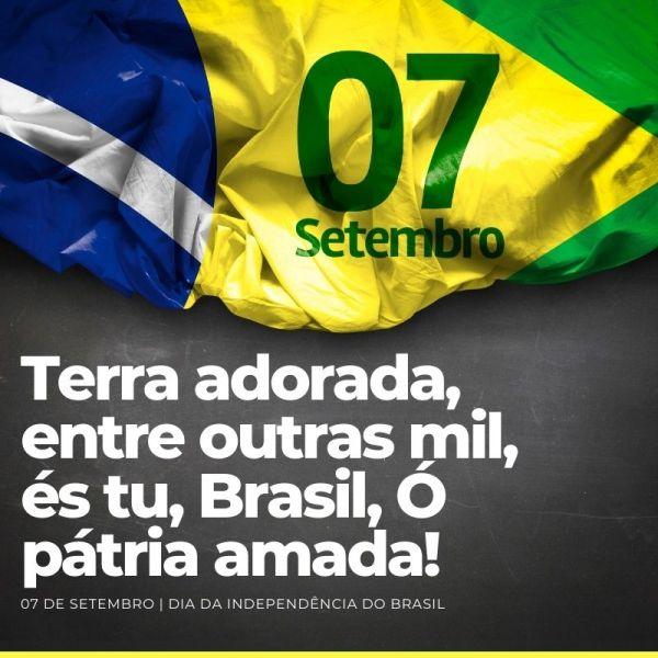 Brasil terra amada, idependência do Brasil