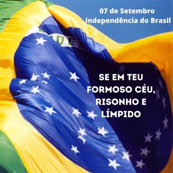 linda nação Brasileira independêcia de 07 de setembro