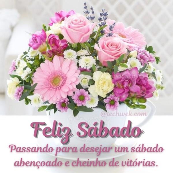 Imagens de Feliz sábado com flores