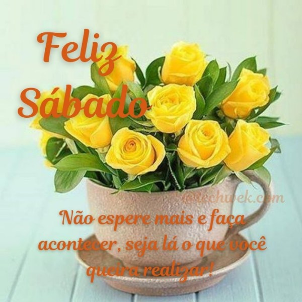 Imagem de Feliz sábado com flores