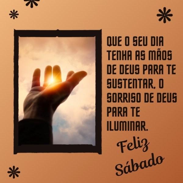 Mensagens de Feliz sábado iluminada de Deus