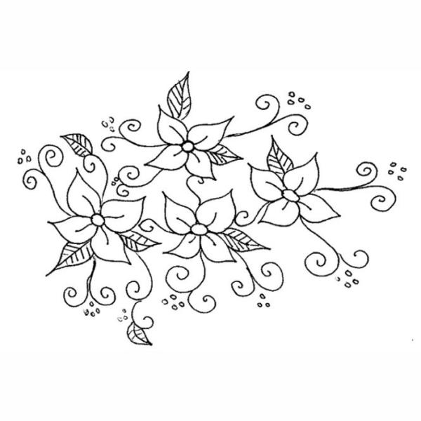 Flores detalhistas para pintar