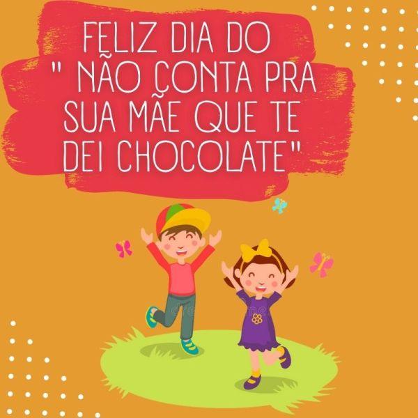 feliz dia das crianças com chocolate