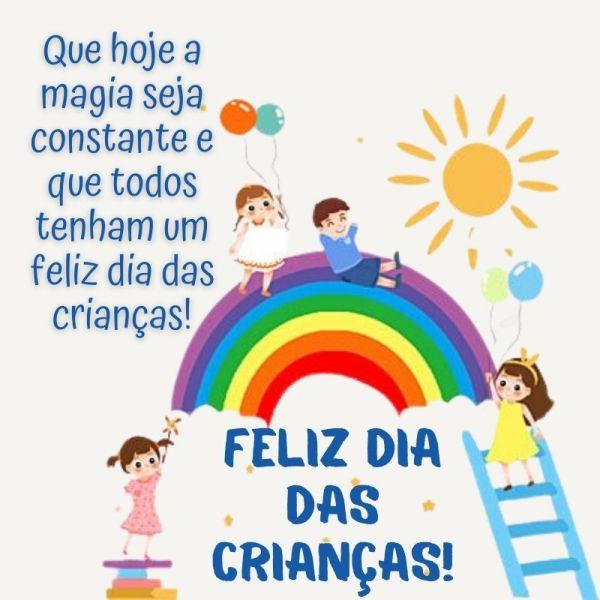 feliz dia das crianças no mundo mágico