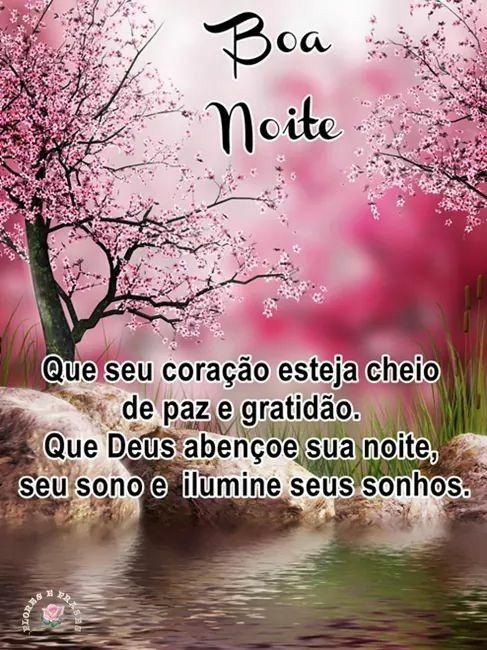 Boa noite de paz e lindos sonhos