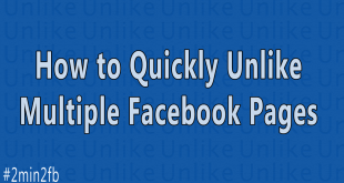 How to Quickly Unlike Multiple Facebook Pages