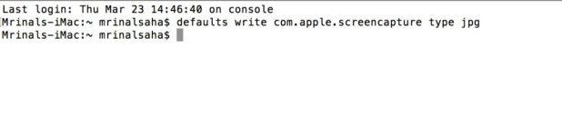 Change the for Mac Screenshots