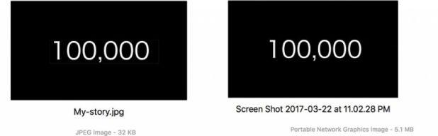 File Format for Mac Screenshots