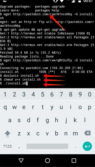 convert video on android with FFmpeg Using Termux