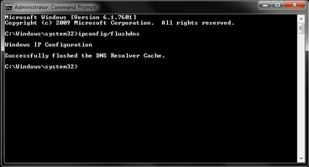 Flush DNS Cache on Windows