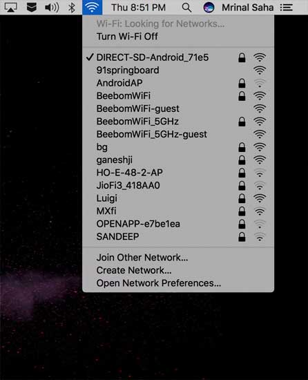 Share WiFi from Android to macOS