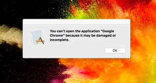 You can't open the application 'app name' because it may be damaged or incomplete