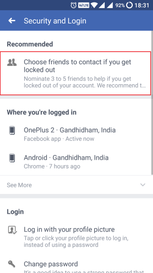 facebook recommended friends security