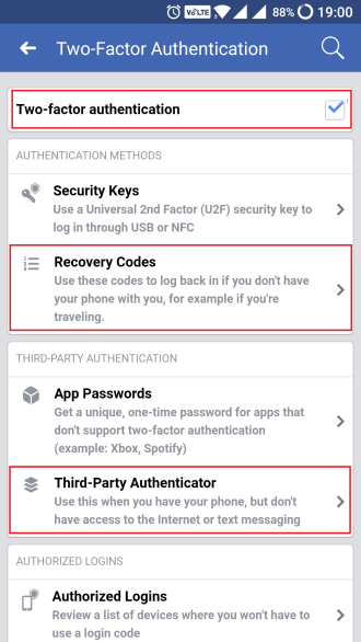 2 factor authentication
