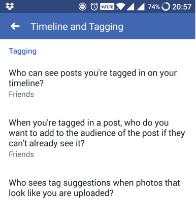 facebook privacy tagging settings